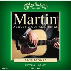 Martin Bronze 80/20 M-180 XL 10-47 set corde per chitarra 12 corde