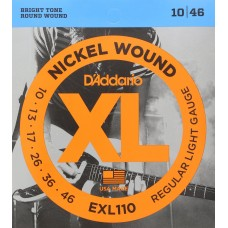 D'Addario EXL110 Set di Corde Rivestite in Nickel per Chitarra Elettrica, Regular Light, 10-46