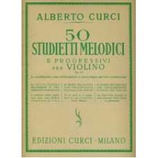 Curci - 50 Studietti melodici e progressivi per violino op. 22