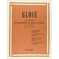 KLOSE' 20 STUDI DI GENERE E DI MECCANISMO PER CLARINETTO