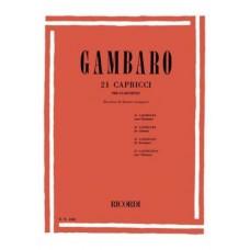 Gambaro - 21 Capricci per clarinetto