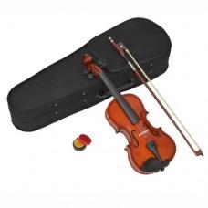 Violino Classico in Acero per Bambini 3-4 anni, Legno Naturale, Grandezza 1/16