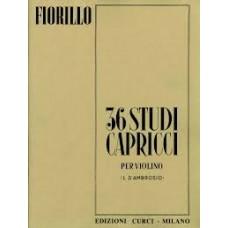 FIORILLO 36 STUDI CAPRICCI PER VIOLINO L.D'AMBROSIO