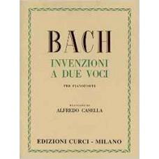 BACH INVENZIONI A DUE VOCI PER PIANOFORTE (Casella)