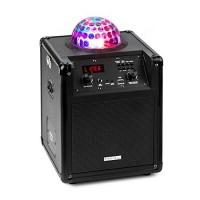 Ibiza Kube 60 Cassa Karaoke Portatile Bluetooth 60 W, effetto luminoso LED Astro-RGB-L,USB SD MP3