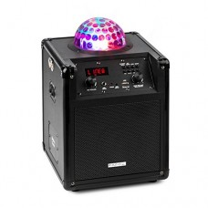 Ibiza Kube 60 Cassa Karaoke Portatile Bluetooth 60 W, effetto luminoso LED Astro-RGB-L,USB SD MP3