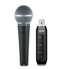Shure SM58-X2U microfono dinamico + convertitore campionatore USB