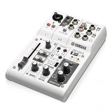 Yamaha AG03 Mixer 3 canali multifunzione con interfaccia audio USB Bianco