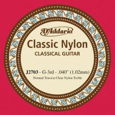 D'Addario J2703 Corda Singola Classica J27 Classic Nylon