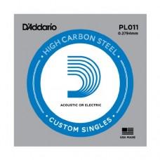 D'Addario PL011 Corda Singola Elettrica-Acustica Plain Steel