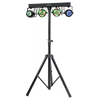 Ibiza djlight65 SET  2 Proiettori PAR laser + 2 Moon Flower a LED + supporto luci