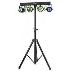 Ibiza djlight65SET  2Proiettori PAR laser + 2Moon Flower a LED + supporto luci