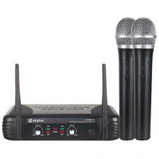 Kit Microfoni Skytec Wireless: Ricevitore + 2 Microfoni a gelato