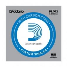 D'Addario PL012 Corda Singola Elettrica-Acustica Plain Steel