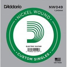 D'Addario NW049 Corda Singola Elettrica-Acustica Nickel Round