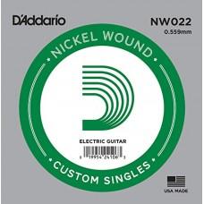 D'Addario NW022 Corda Singola Elettrica-Acustica Nickel Round