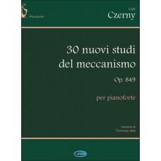 Carl Czerny: 30 Nuovi Studi del Meccanismo Op.849, per Pianoforte